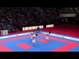 (12) Bronze Female Team Kata Venezuela vs France. WKF World Karate Championships 2012